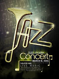 Плакат концерта джаза Стоковое Фото