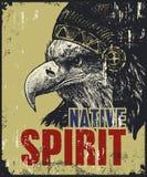 Плакат коренного американца Стоковая Фотография RF