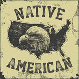 Плакат коренного американца Стоковые Изображения RF