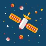 Плакат космического пространства вектора плоский Стоковые Фото