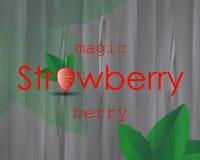 Плакат клубники с ягодой красного цвета изображения Стоковые Изображения RF