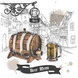Плакат меню бара пива иллюстрация штока
