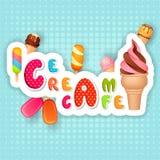 Плакат мороженого Стоковые Изображения