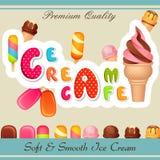 Плакат мороженого Стоковая Фотография RF