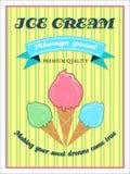 Плакат мороженого Стоковое Изображение