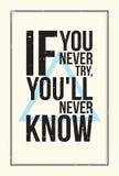 Плакат мотивировки воодушевленности Тип Grunge Стоковые Изображения RF