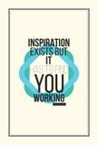 Плакат мотивировки воодушевленности Стоковое Фото