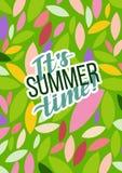 Плакат мотивировки лета типографский также вектор иллюстрации притяжки corel Иллюстрация штока