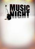 Плакат музыки караоке Стоковые Изображения RF