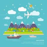 Плакат навигации Стоковые Фото