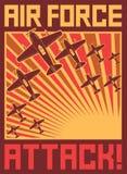 Плакат нападения военновоздушной силы Стоковые Фотографии RF