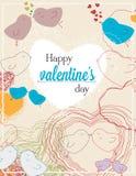 Плакат на счастливый день валентинки Стоковые Фотографии RF