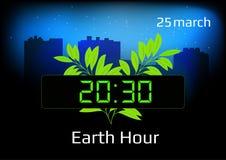 Плакат на час земли Стоковая Фотография RF