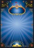 Плакат ночи цирка стоковая фотография