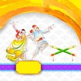 Плакат ночи Dandiya Стоковое Изображение