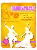 Плакат ночи Dandiya Стоковая Фотография RF
