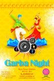 Плакат ночи Garba Стоковое фото RF