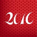 Плакат 2016 нумерует на предпосылке, векторных графиках Стоковая Фотография RF