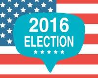 Плакат дня выборов США 2016 Стоковые Изображения RF