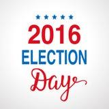 Плакат 2016 дня выборов Стоковое Фото