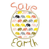 Плакат дня земли иллюстрация штока