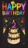 плакат дня рождения счастливый Стоковое Изображение RF