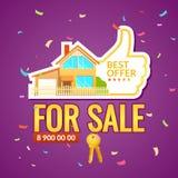 Плакат объявления Внутренняя продажа недвижимости Стоковая Фотография RF
