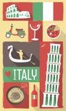 Плакат & открытка Италии Стоковое Фото