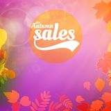 Плакат оформления листьев продажи осени реалистический Стоковая Фотография RF