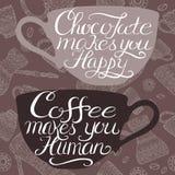 Плакат оформления кофе помещенный на кофе связал картина бесплатная иллюстрация