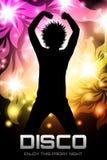 Плакат партии диско флористический Стоковые Фото
