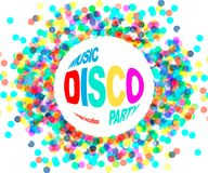 Плакат партии диско Стоковое Изображение RF