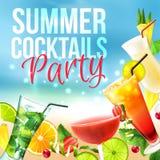 Плакат партии коктеиля Стоковая Фотография RF