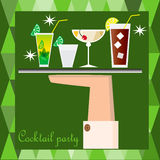 Плакат партии коктеиля Стоковая Фотография