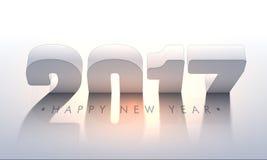 Плакат партии Нового Года с текстом 3D Стоковое Изображение