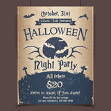 Плакат партии ночи хеллоуина Стоковые Изображения RF