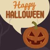 Плакат партии хеллоуина также вектор иллюстрации притяжки corel Стоковое Изображение RF
