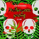 Плакат партии хеллоуина Стоковое Изображение RF