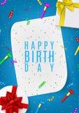 Плакат подарка с днем рождений Стоковые Изображения RF