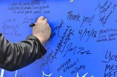 Плакат поддержки взрыва Бостона Стоковое Изображение RF