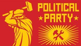 Плакат политической партии Стоковые Фотографии RF