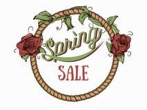 Плакат продажи весны Стоковые Изображения