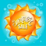 Плакат продажи лета шаблон дизайна покупок лета Стоковые Изображения