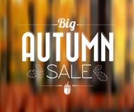 Плакат продажи осени ретро Стоковое Изображение