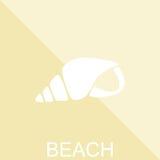Плакат пляжа лета Значок раковины Иллюстрация EPS10 вектора иллюстрация штока