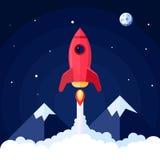Плакат Ракеты космоса иллюстрация штока