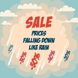 Плакат рекламы продажи Стоковые Изображения