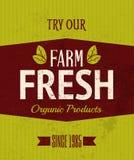 Плакат ретро фермы свежий Стоковые Изображения RF