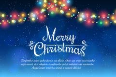 плакат рождества веселый Стоковое фото RF