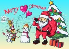 Плакат Рождества иллюстрация вектора